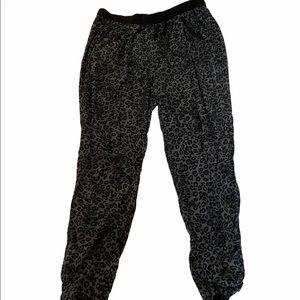 LOVE & LEGEND Grey Leopard Print High Waisted Pant